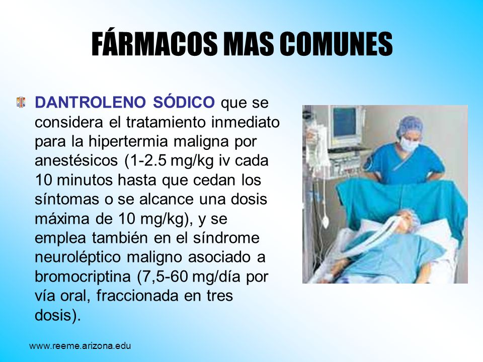 FÁRMACOS MAS COMUNES