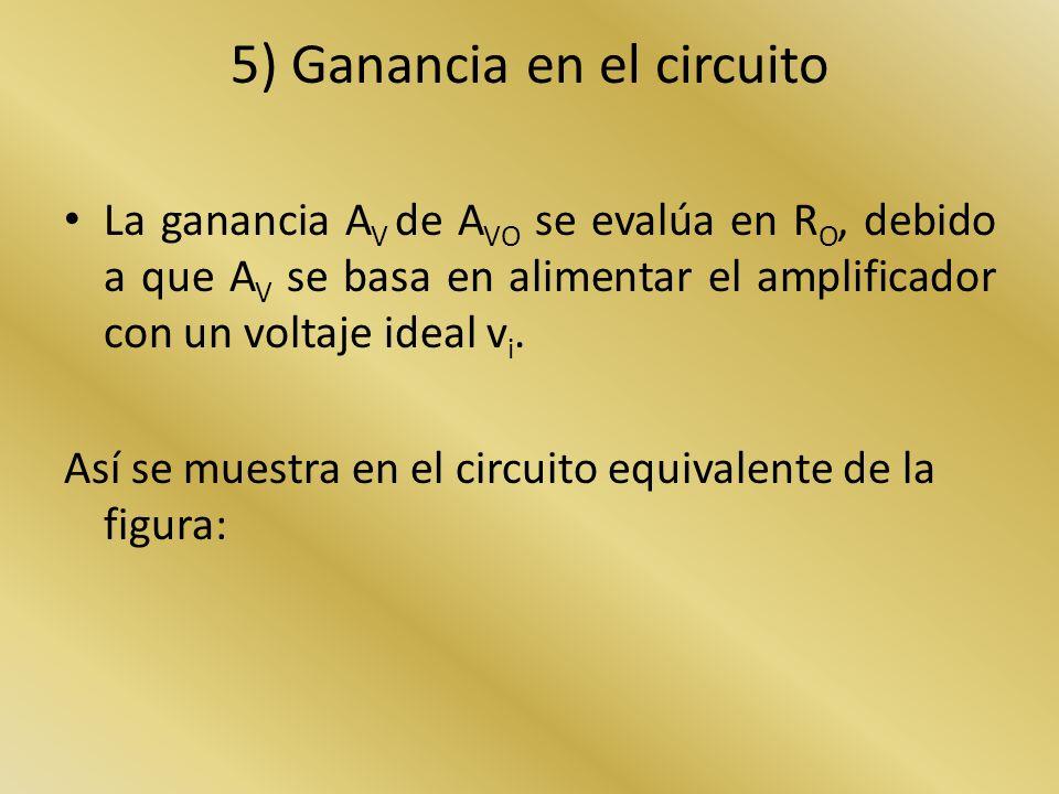 5) Ganancia en el circuito