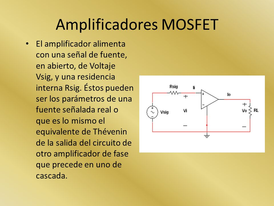 Amplificadores MOSFET