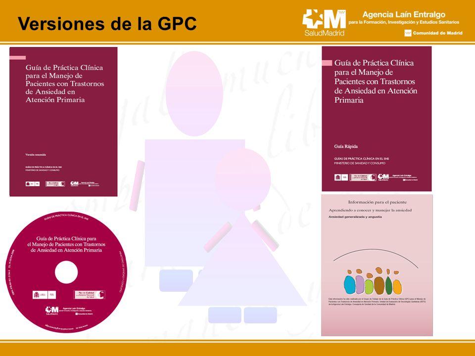 Versiones de la GPC Y por último, estas son las versiones de la GPC que están disponibles.