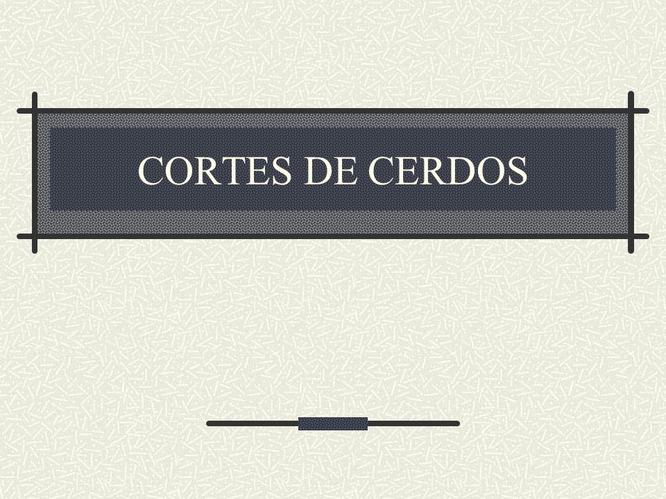 CORTES DE CERDOS
