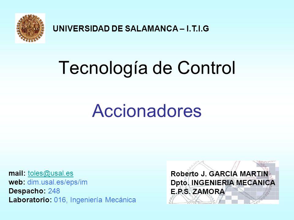 Tecnología de Control Accionadores