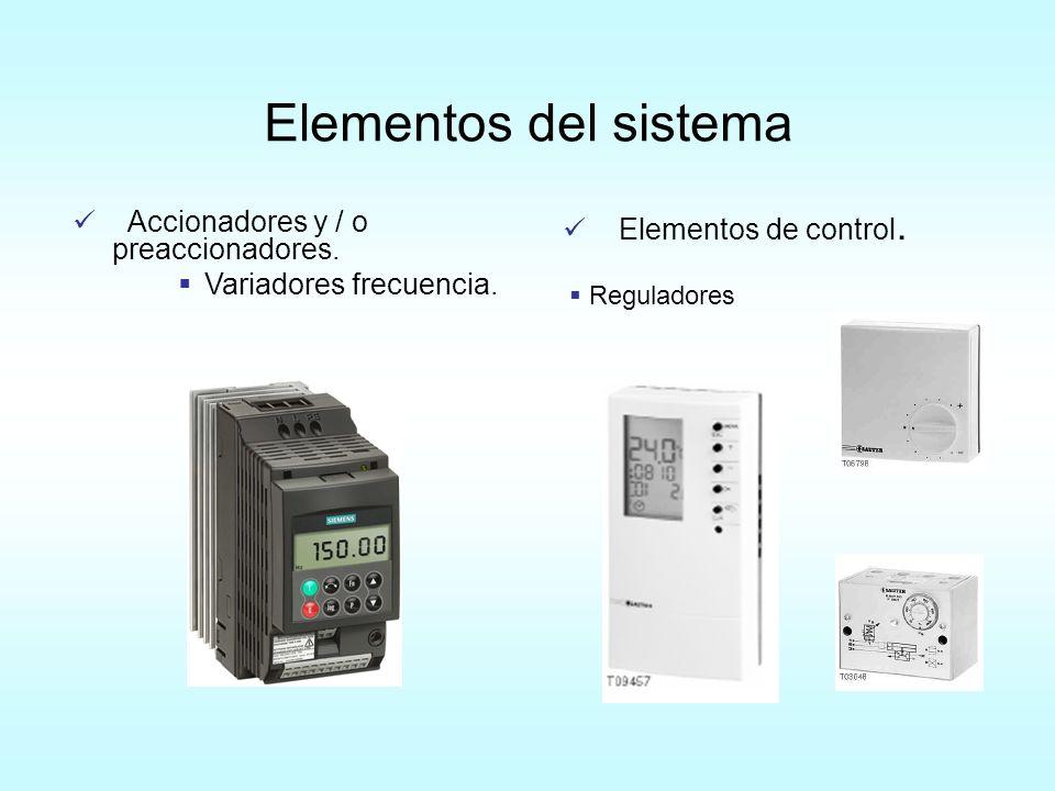 Elementos del sistema Accionadores y / o preaccionadores.