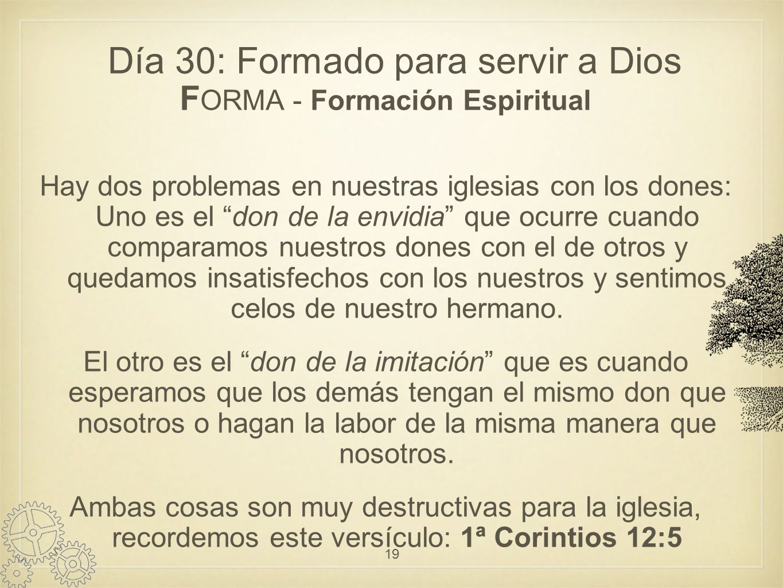 Día 30: Formado para servir a Dios