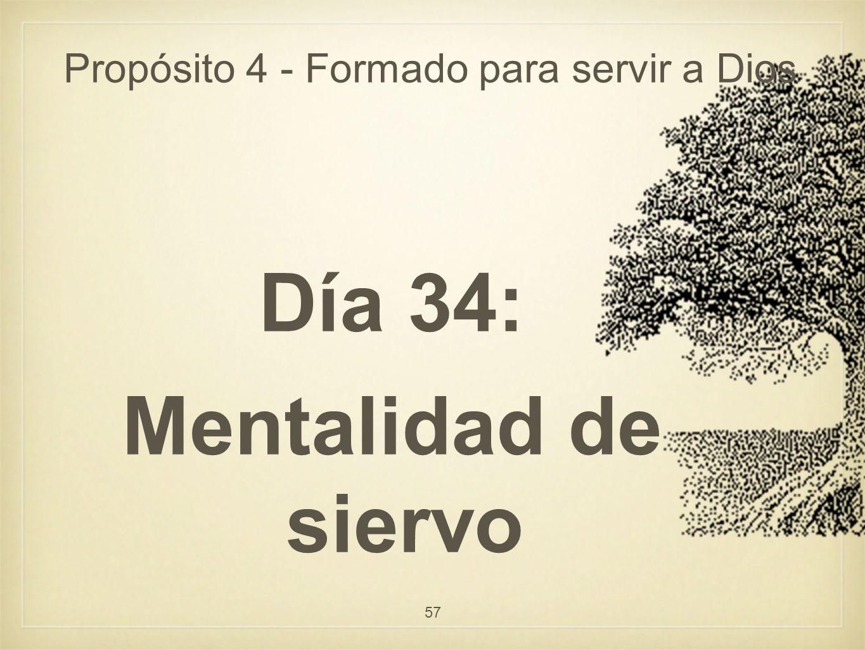 Propósito 4 - Formado para servir a Dios