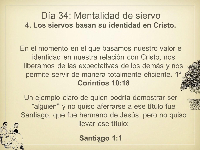 Día 34: Mentalidad de siervo