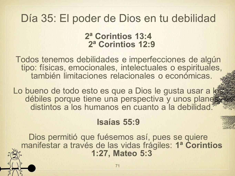 Día 35: El poder de Dios en tu debilidad
