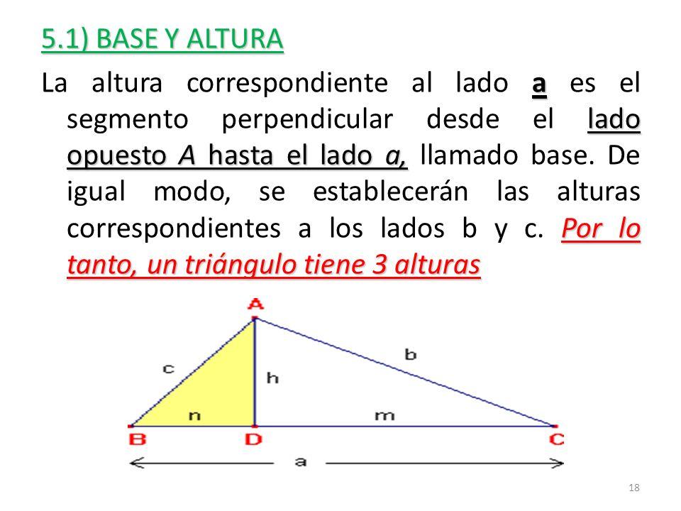5.1) BASE Y ALTURA