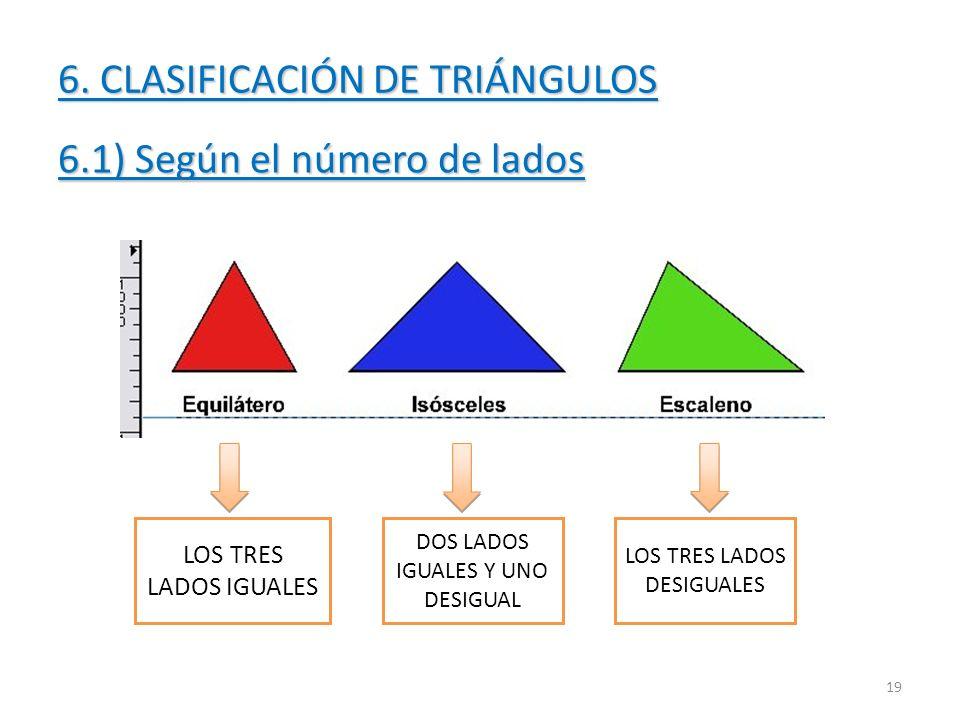 6. CLASIFICACIÓN DE TRIÁNGULOS