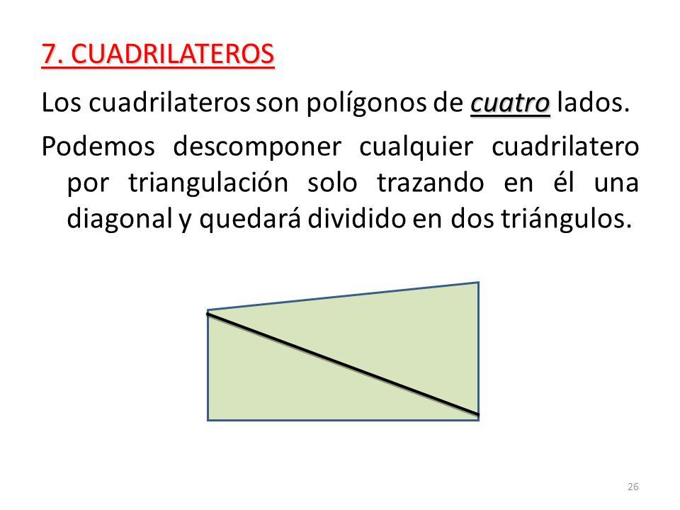 Los cuadrilateros son polígonos de cuatro lados.