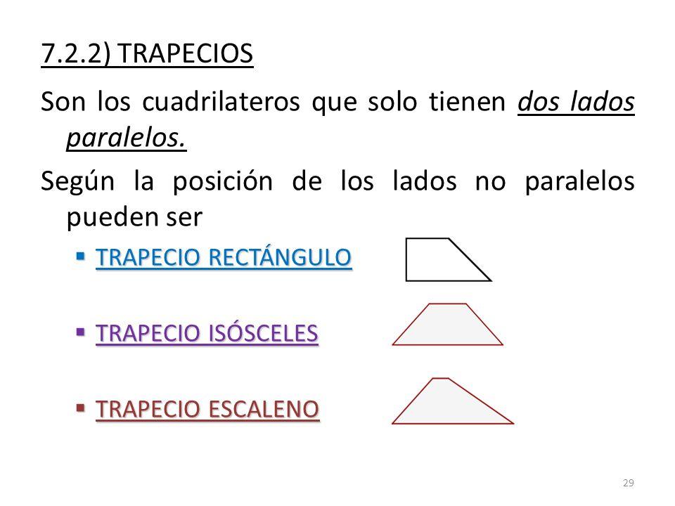 Son los cuadrilateros que solo tienen dos lados paralelos.