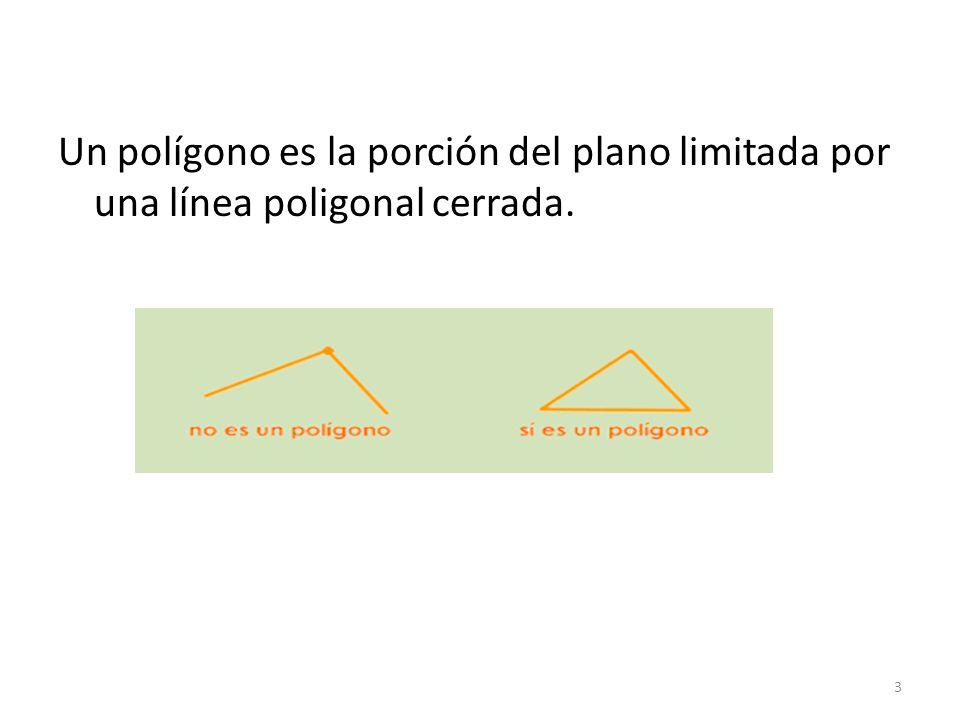 Un polígono es la porción del plano limitada por una línea poligonal cerrada.