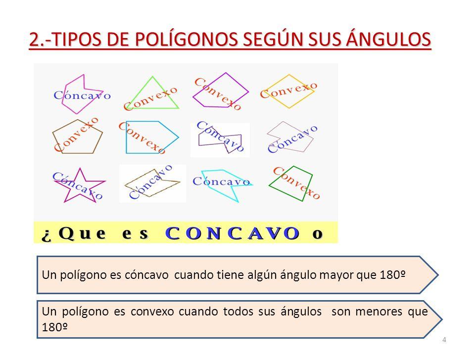 2.-TIPOS DE POLÍGONOS SEGÚN SUS ÁNGULOS