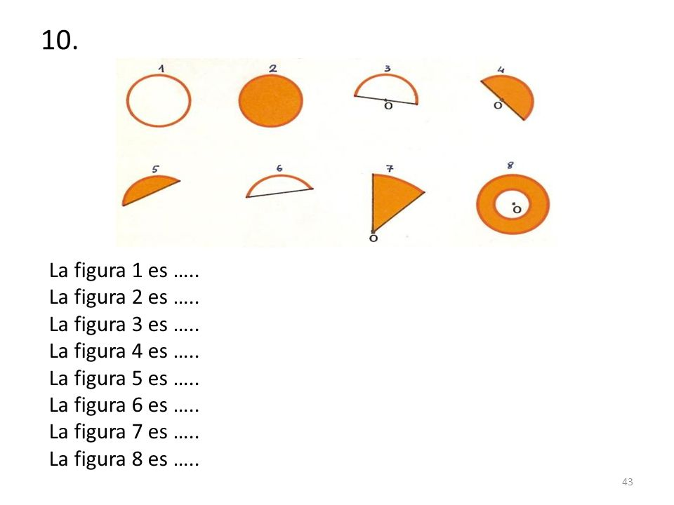 10. La figura 1 es ….. La figura 2 es ….. La figura 3 es …..