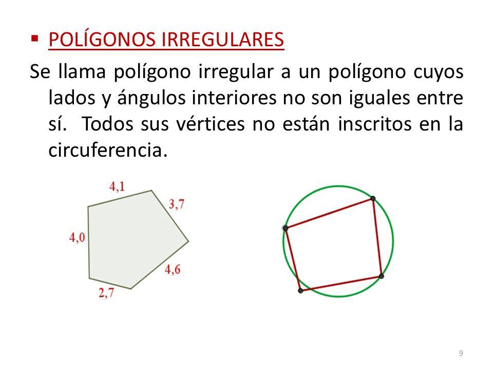 POLÍGONOS IRREGULARES