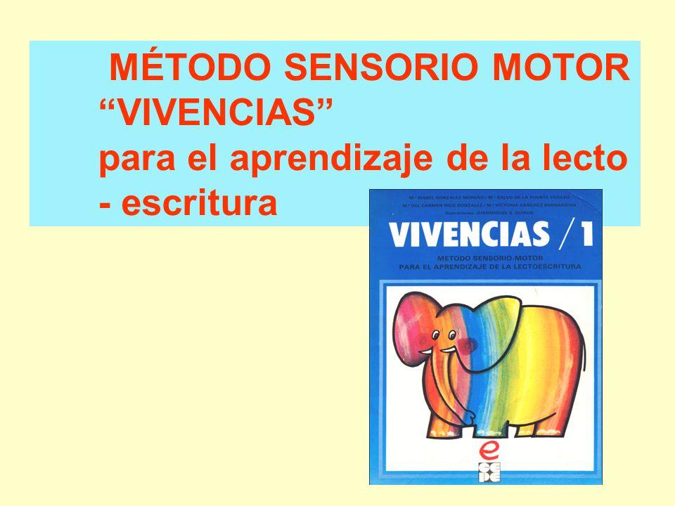 MÉTODO SENSORIO MOTOR VIVENCIAS para el aprendizaje de la lecto - escritura