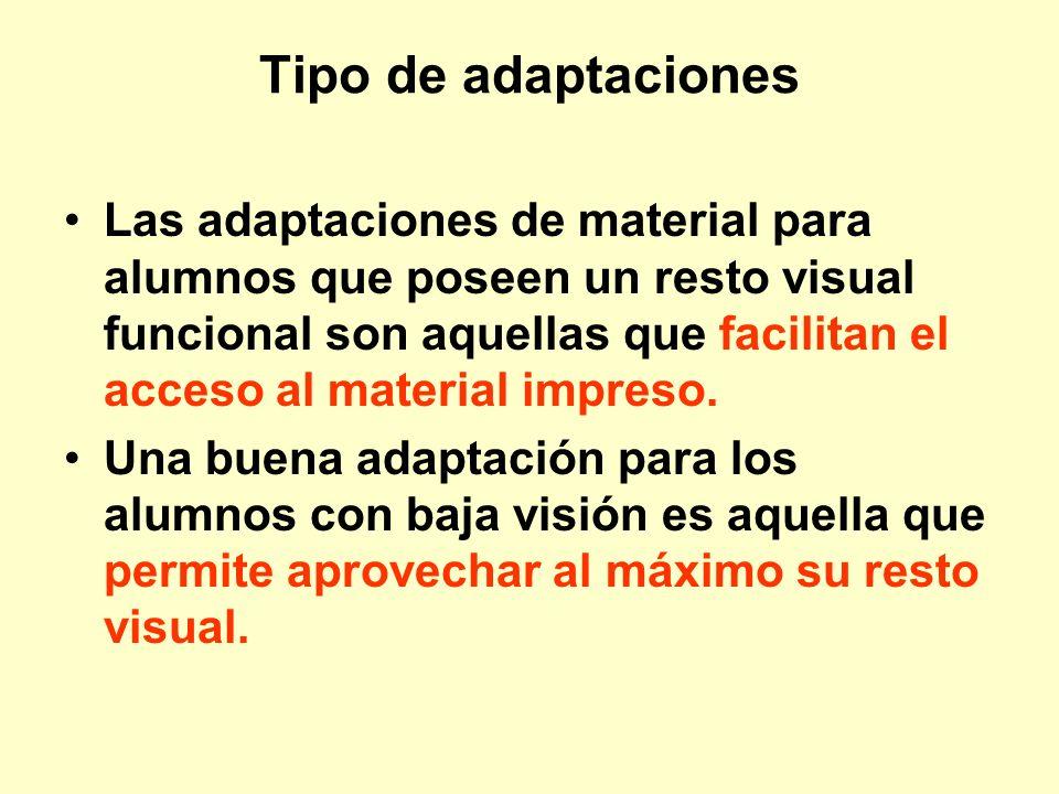 Tipo de adaptaciones