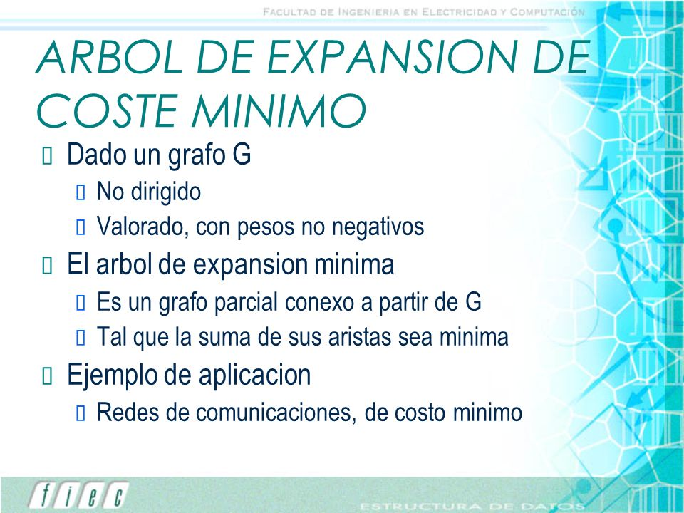 ARBOL DE EXPANSION DE COSTE MINIMO