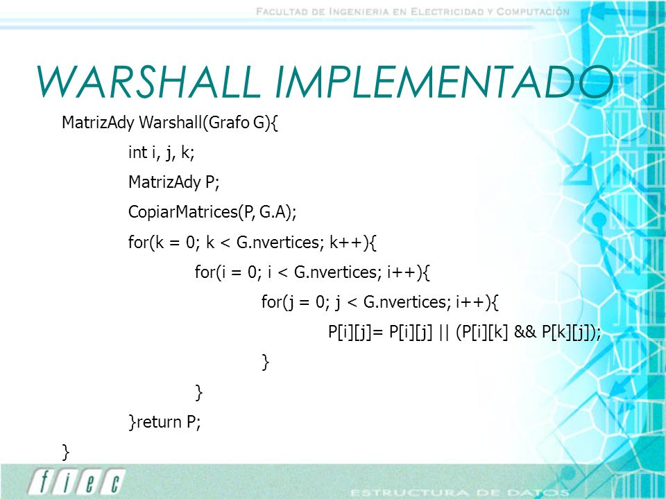 WARSHALL IMPLEMENTADO
