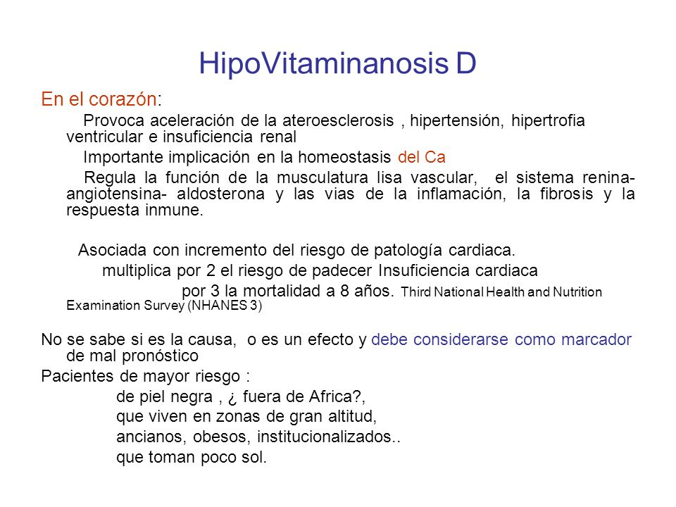HipoVitaminanosis D En el corazón: