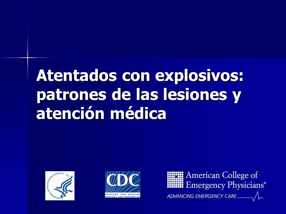 Atentados con explosivos: patrones de las lesiones y atención médica