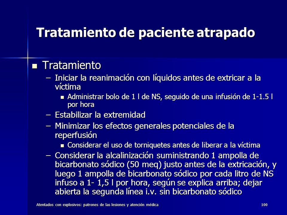 Tratamiento de paciente atrapado