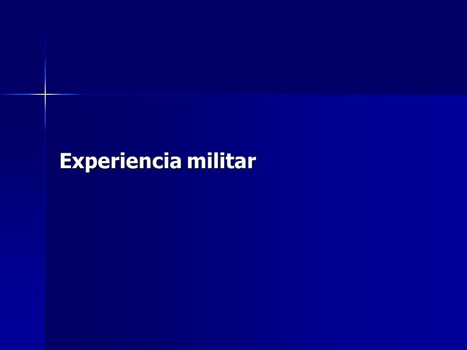 Experiencia militar
