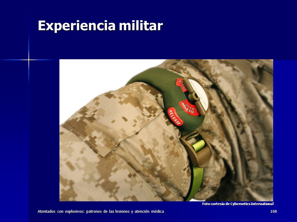 Experiencia militar Foto cortesía de Cybernetics International.