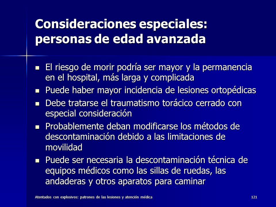 Consideraciones especiales: personas de edad avanzada