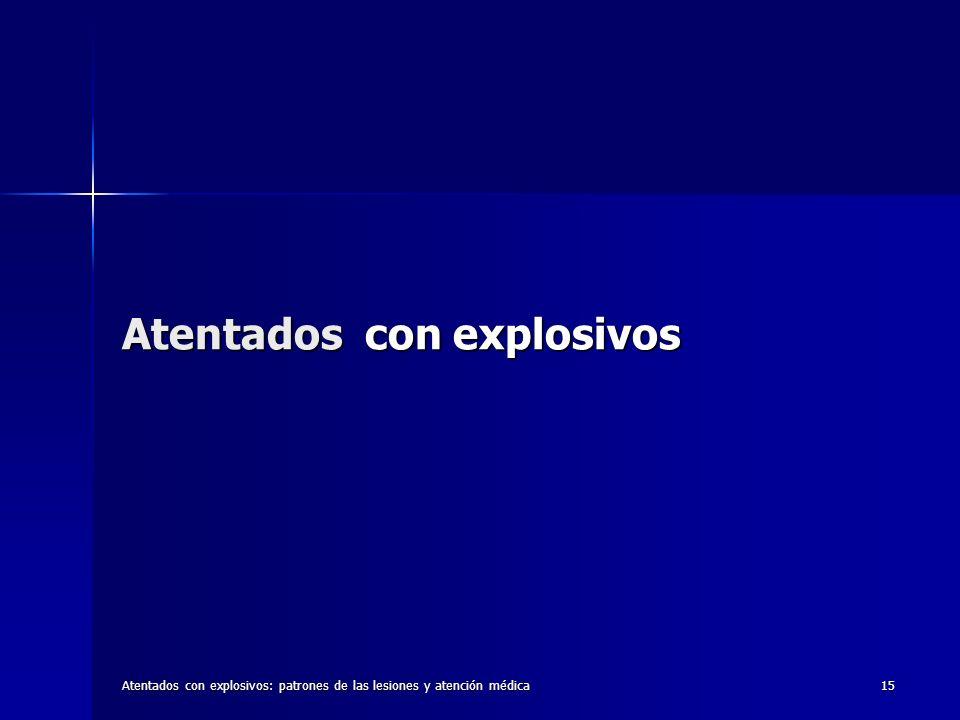Atentados con explosivos