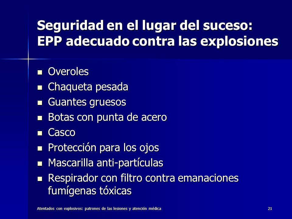 Seguridad en el lugar del suceso: EPP adecuado contra las explosiones