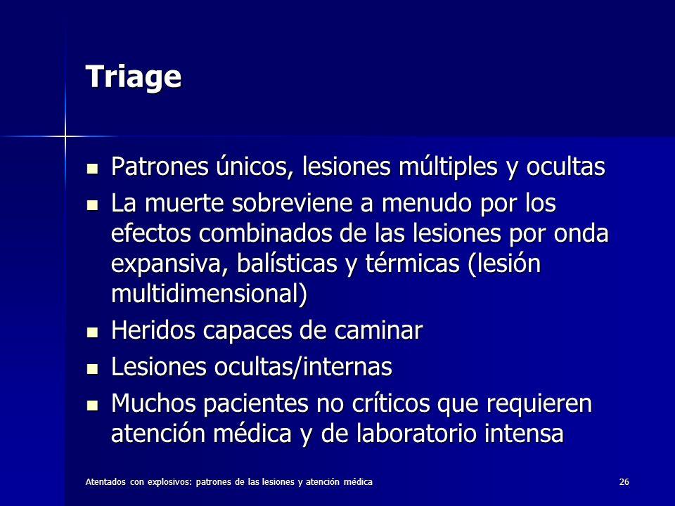 Triage Patrones únicos, lesiones múltiples y ocultas