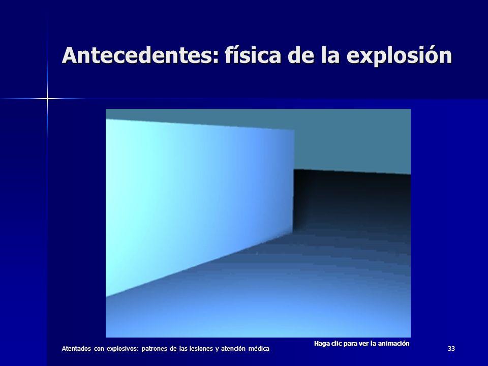 Antecedentes: física de la explosión