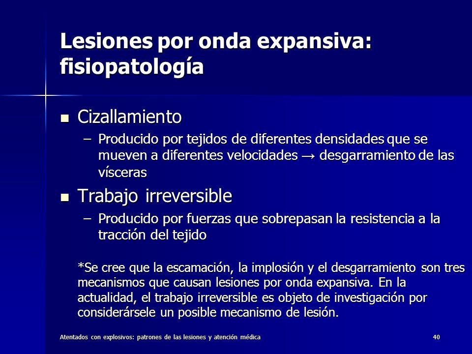 Lesiones por onda expansiva: fisiopatología