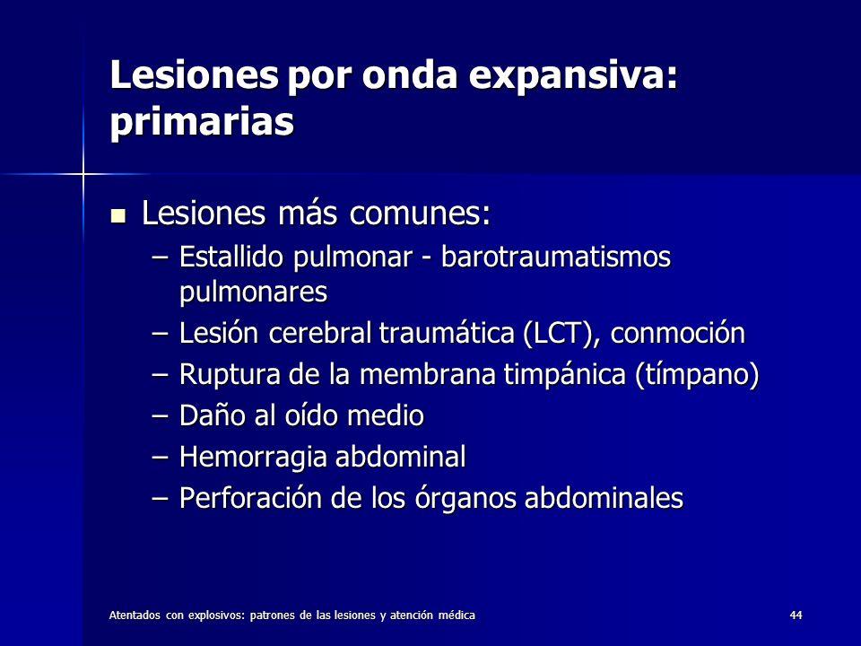 Lesiones por onda expansiva: primarias