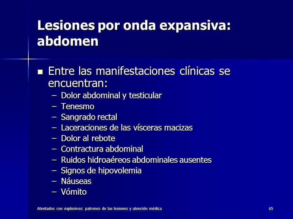 Lesiones por onda expansiva: abdomen