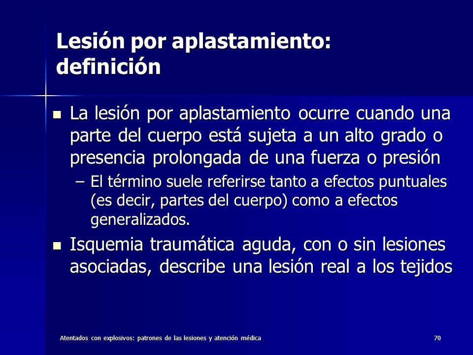 Lesión por aplastamiento: definición