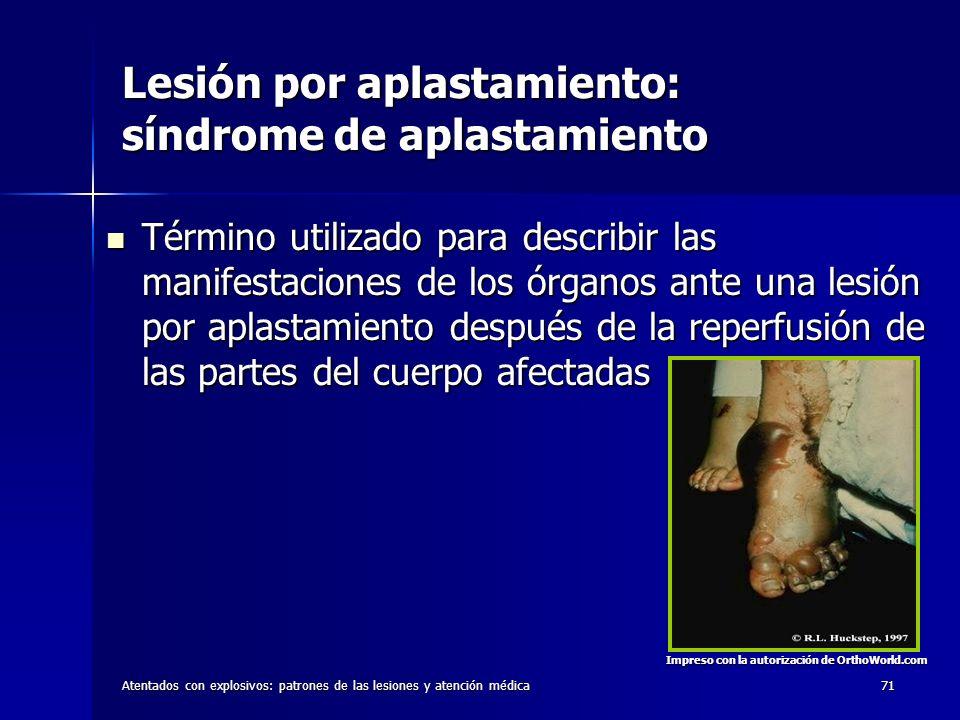 Lesión por aplastamiento: síndrome de aplastamiento