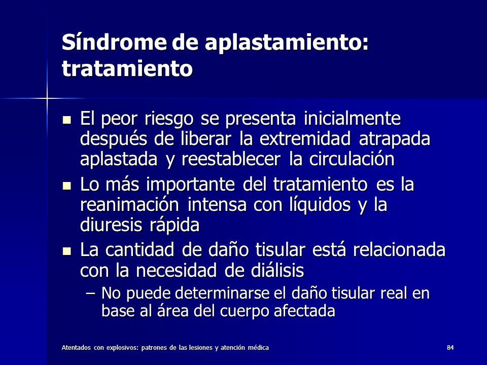 Síndrome de aplastamiento: tratamiento