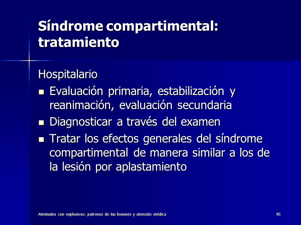 Síndrome compartimental: tratamiento