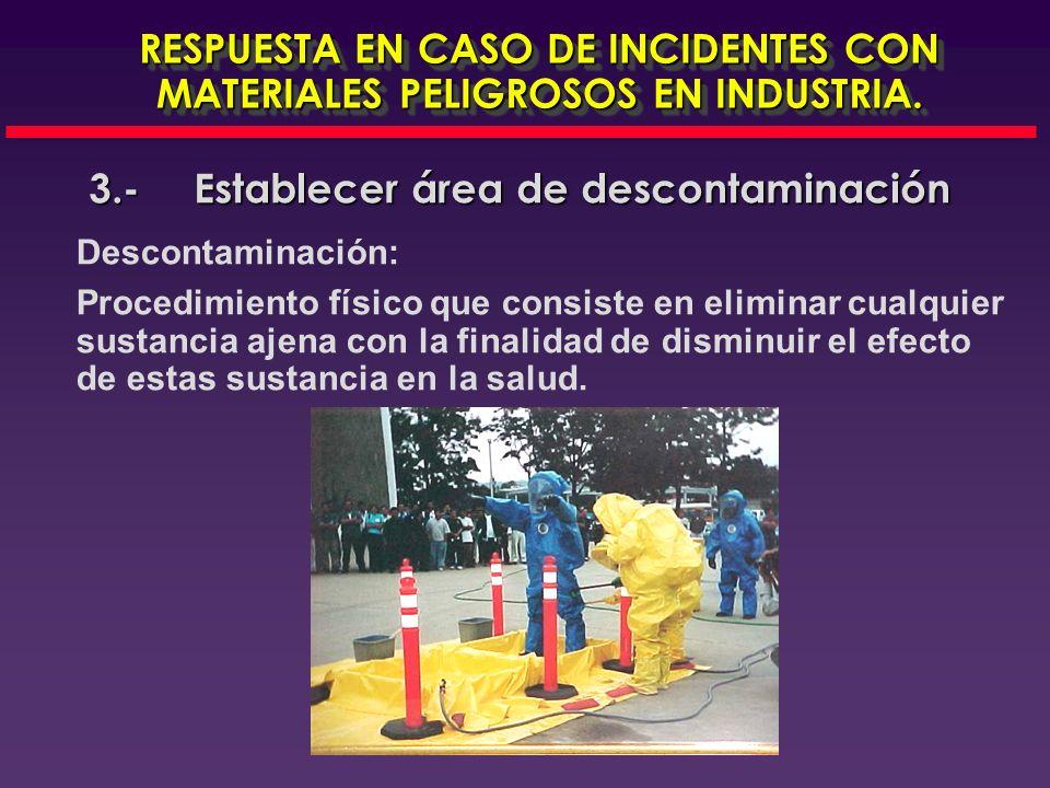 3.- Establecer área de descontaminación