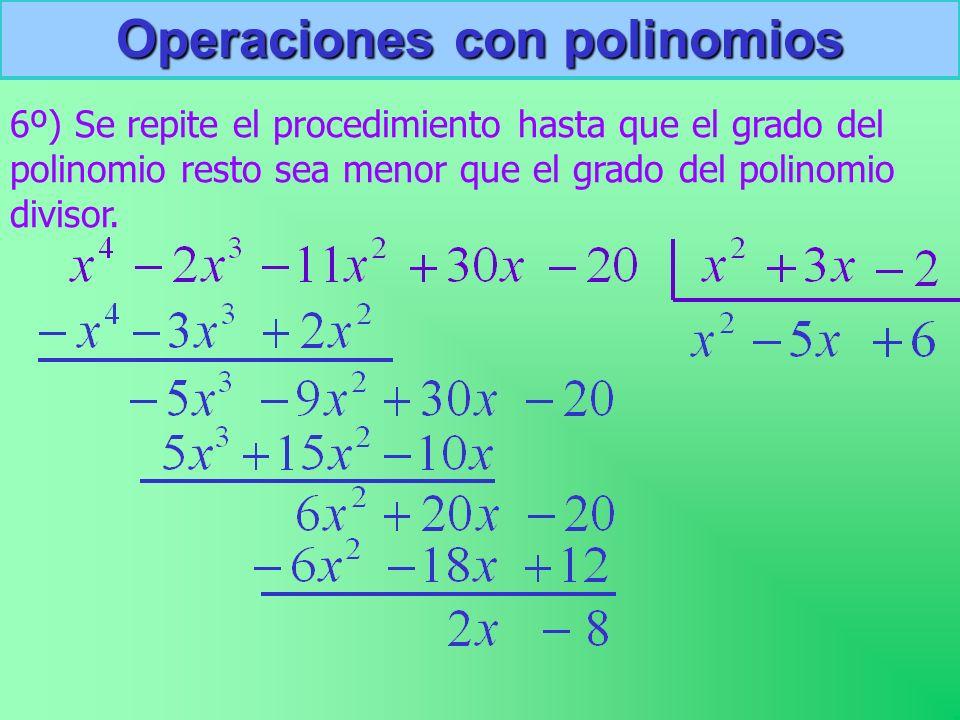 Operaciones con polinomios
