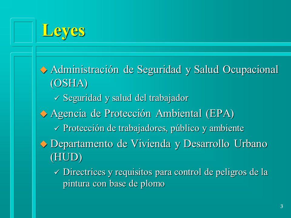 Leyes Administración de Seguridad y Salud Ocupacional (OSHA)