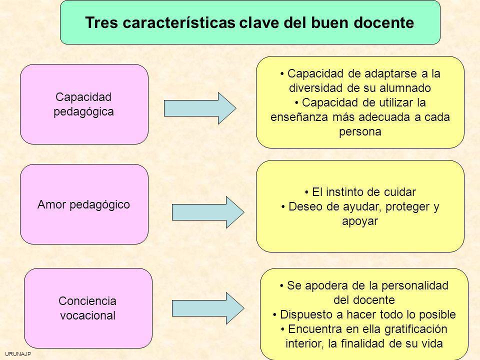 Tres características clave del buen docente