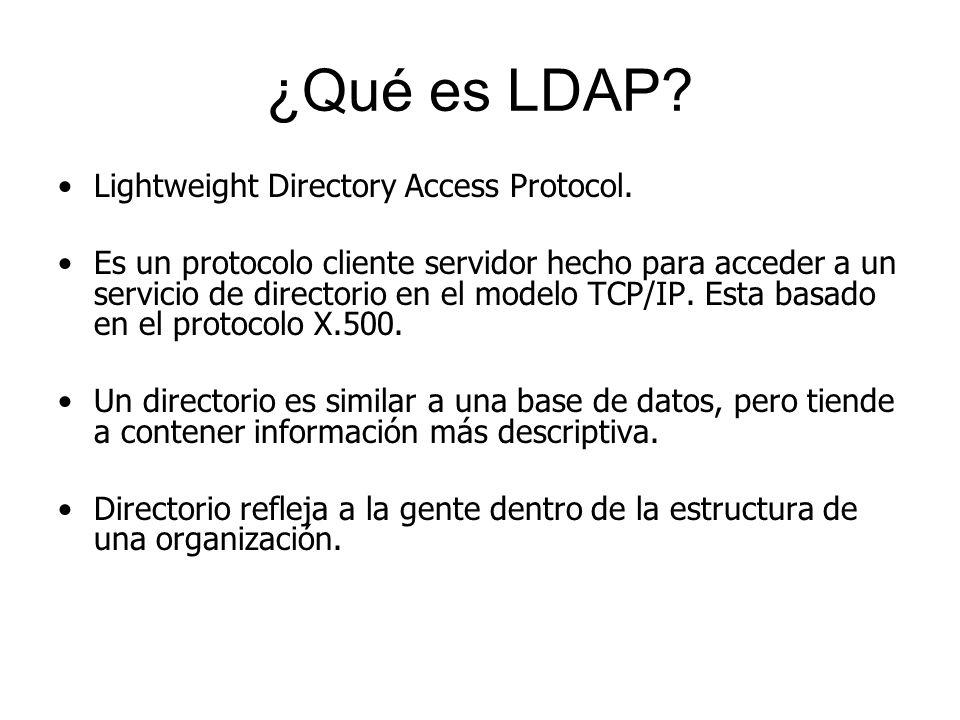 ¿Qué es LDAP Lightweight Directory Access Protocol.