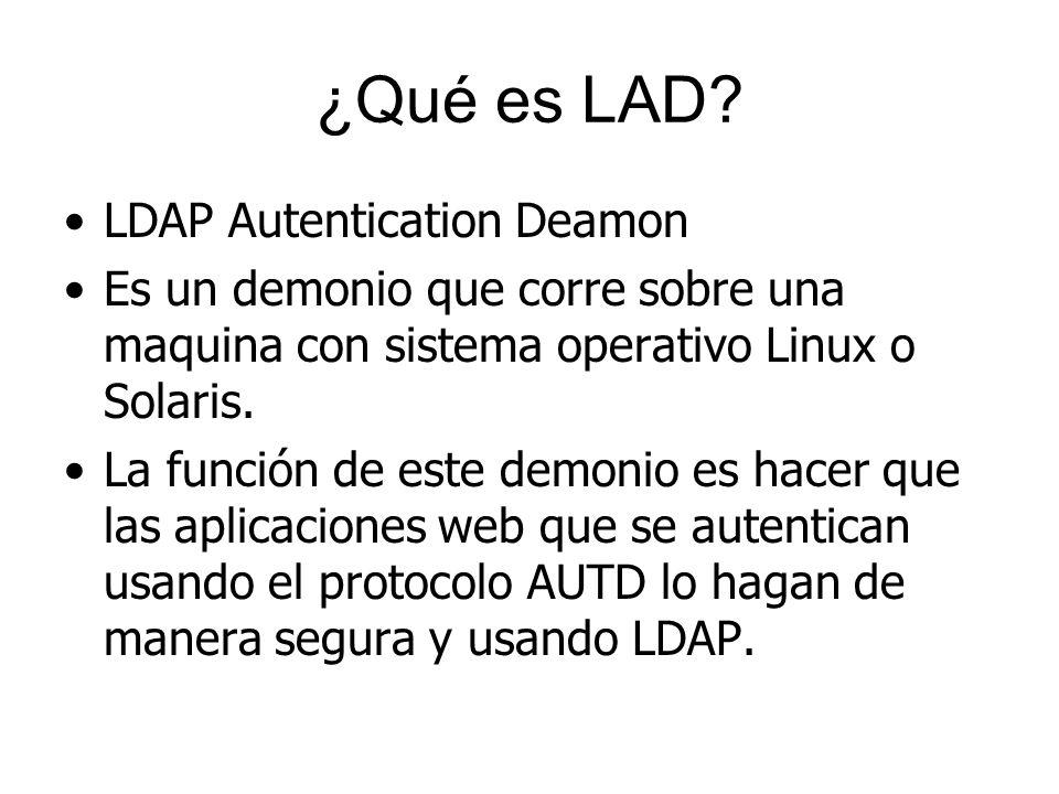 ¿Qué es LAD LDAP Autentication Deamon