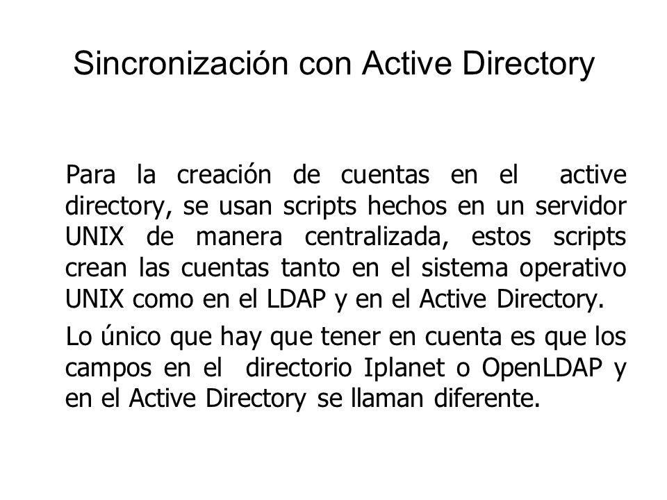 Sincronización con Active Directory