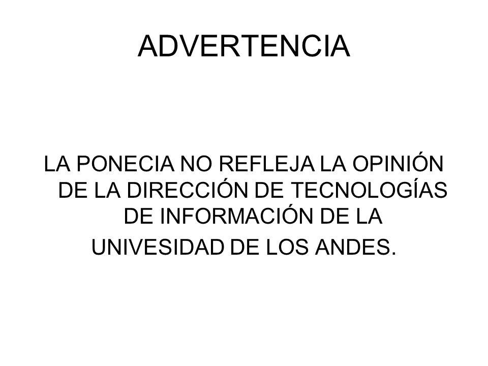 UNIVESIDAD DE LOS ANDES.