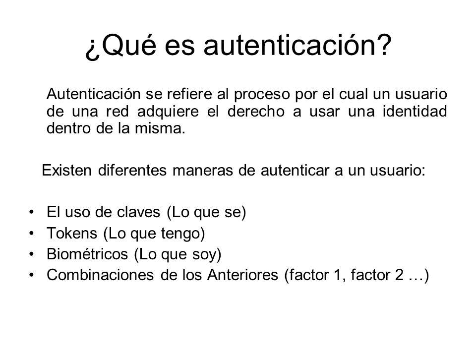 ¿Qué es autenticación