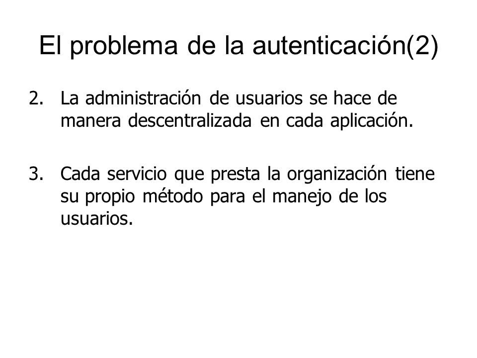 El problema de la autenticación(2)